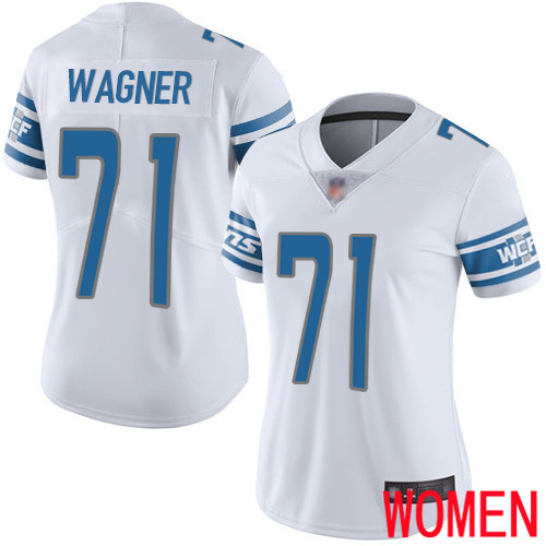Detroit Lions Limited White Women Ricky Wagner Road Jersey NFL Football 71 Vapor Untouchable