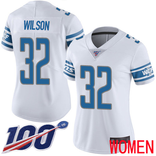 Detroit Lions Limited White Women Tavon Wilson Road Jersey NFL Football 32 100th Season Vapor Untouchable