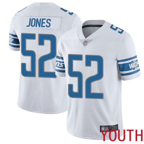 Detroit Lions Limited White Youth Christian Jones Road Jersey NFL Football 52 Vapor Untouchable