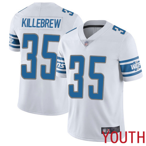 Detroit Lions Limited White Youth Miles Killebrew Road Jersey NFL Football 35 Vapor Untouchable