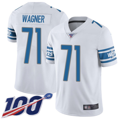 Detroit Lions Limited White Youth Ricky Wagner Road Jersey NFL Football 71 100th Season Vapor Untouchable