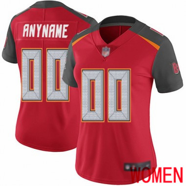 Football Red Jersey Women Limited Customized Tampa Bay Buccaneers Home Vapor Untouchable