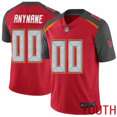 Football Red Jersey Youth Limited Customized Tampa Bay Buccaneers Home Vapor Untouchable