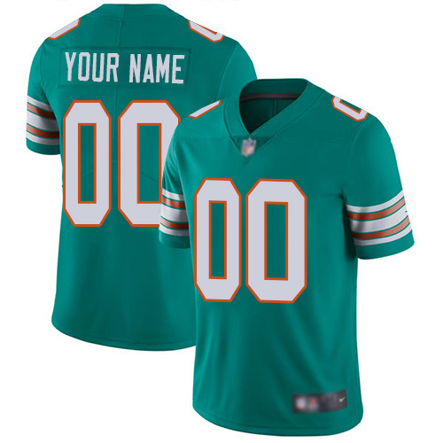 Limited Aqua Green Men Alternate Jersey NFL Customized Football Miami Dolphins Vapor Untouchable
