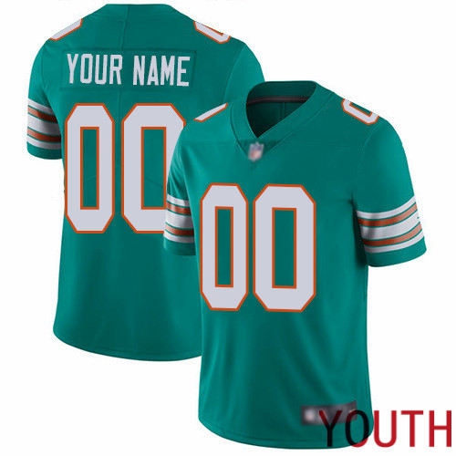 Limited Aqua Green Youth Alternate Jersey NFL Customized Football Miami Dolphins Vapor Untouchable