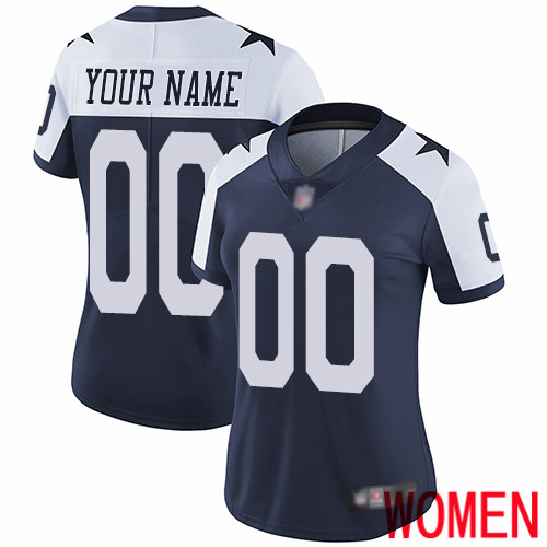 Limited Navy Blue Women Alternate Jersey NFL Customized Football Dallas Cowboys Vapor Untouchable Throwback