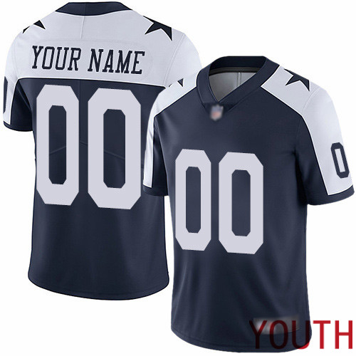 Limited Navy Blue Youth Alternate Jersey NFL Customized Football Dallas Cowboys Vapor Untouchable Throwback