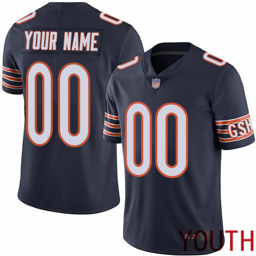 Limited Navy Blue Youth Home Jersey NFL Customized Football Chicago Bears Vapor Untouchable