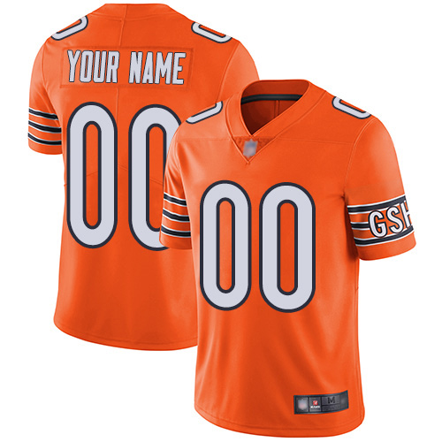 Limited Orange Men Alternate Jersey NFL Customized Football Chicago Bears Vapor Untouchable