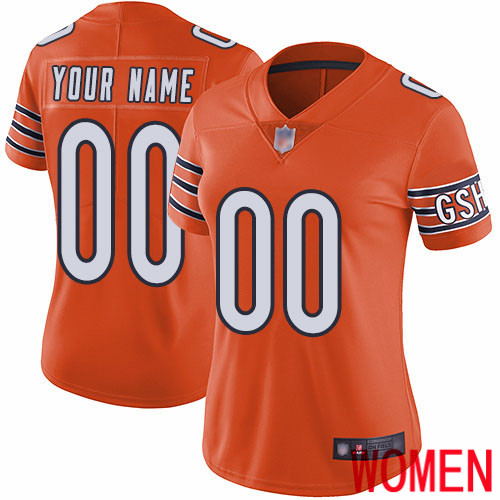 Limited Orange Women Alternate Jersey NFL Customized Football Chicago Bears Vapor Untouchable