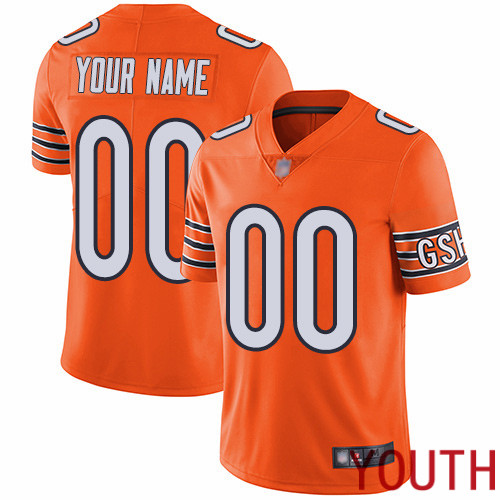 Limited Orange Youth Alternate Jersey NFL Customized Football Chicago Bears Vapor Untouchable
