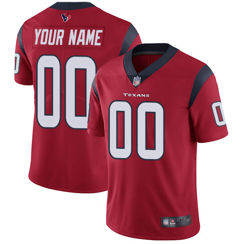 Limited Red Men Alternate Jersey NFL Customized Football Houston Texans Vapor Untouchable