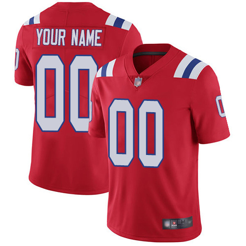 Limited Red Men Alternate Jersey NFL Customized Football New England Patriots Vapor Untouchable