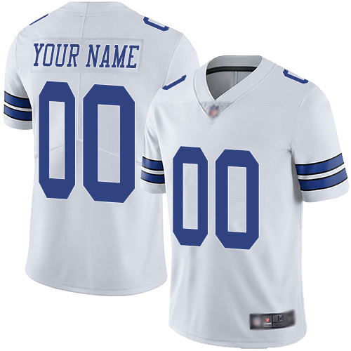 Limited White Men Road Jersey NFL Customized Football Dallas Cowboys Vapor Untouchable