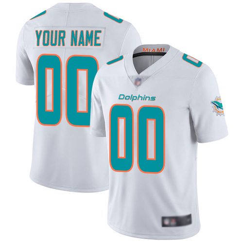 Limited White Men Road Jersey NFL Customized Football Miami Dolphins Vapor Untouchable