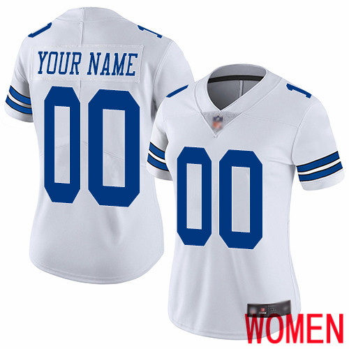 Limited White Women Road Jersey NFL Customized Football Dallas Cowboys Vapor Untouchable