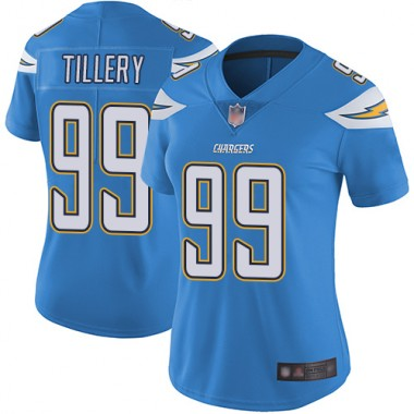 Los Angeles Chargers NFL Football Jerry Tillery Electric Blue Jersey Women Limited 99 Alternate Vapor Untouchable