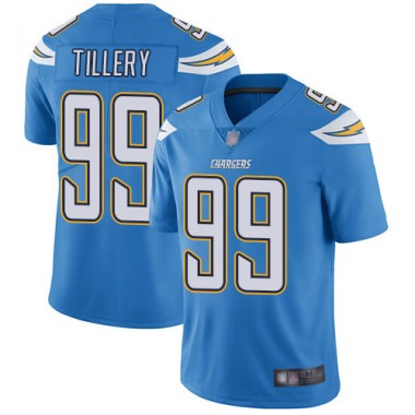 Los Angeles Chargers NFL Football Jerry Tillery Electric Blue Jersey Youth Limited 99 Alternate Vapor Untouchable