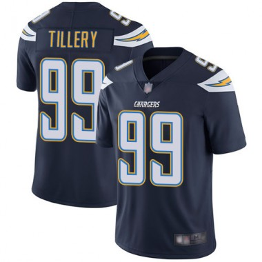 Los Angeles Chargers NFL Football Jerry Tillery Navy Blue Jersey Men Limited 99 Home Vapor Untouchable