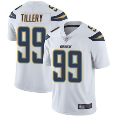 Los Angeles Chargers NFL Football Jerry Tillery White Jersey Men Limited 99 Road Vapor Untouchable