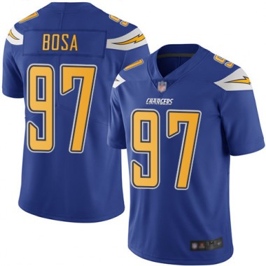 Los Angeles Chargers NFL Football Joey Bosa Electric Blue Jersey Men Limited 97 Rush Vapor Untouchable