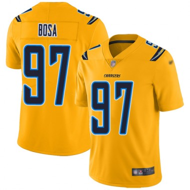 Los Angeles Chargers NFL Football Joey Bosa Gold Jersey Men Limited 97 Inverted Legend