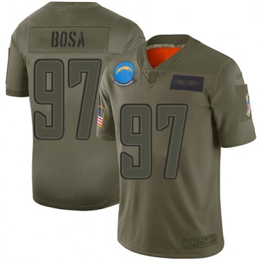 Los Angeles Chargers NFL Football Joey Bosa Olive Jersey Men Limited 97 2019 Salute to Service