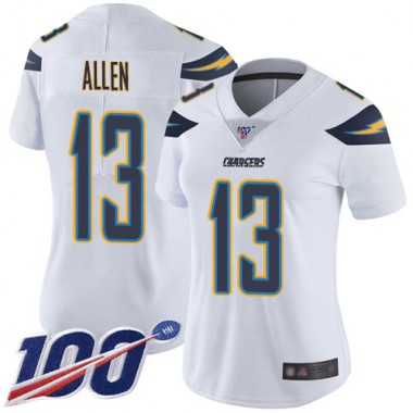 Los Angeles Chargers NFL Football Keenan Allen White Jersey Women Limited 13 Road 100th Season Vapor Untouchable