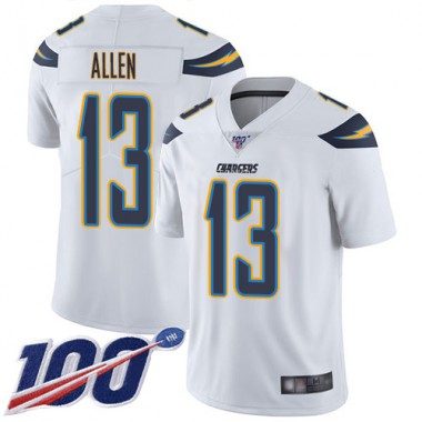 Los Angeles Chargers NFL Football Keenan Allen White Jersey Youth Limited 13 Road 100th Season Vapor Untouchable