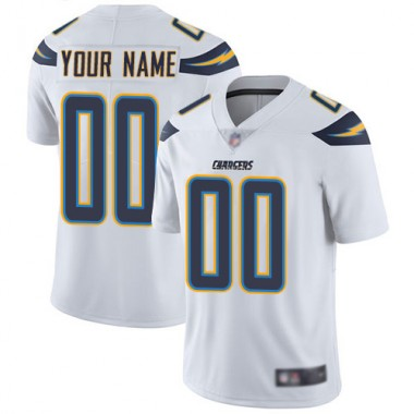Los Angeles Chargers NFL Football White Jersey Men Limited Customized Road Vapor Untouchable