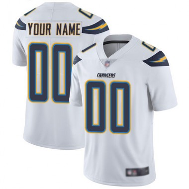 Los Angeles Chargers NFL Football White Jersey Youth Limited Customized Road Vapor Untouchable