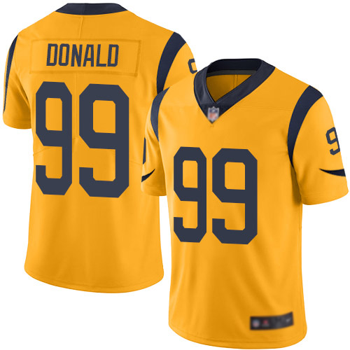 Los Angeles Rams Limited Gold Men Aaron Donald Jersey NFL Football 99 Rush Vapor Untouchable