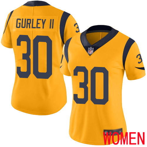 Los Angeles Rams Limited Gold Women Todd Gurley Jersey NFL Football 30 Rush Vapor Untouchable