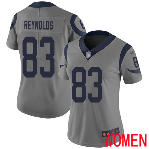 Los Angeles Rams Limited Gray Women Josh Reynolds Jersey NFL Football 83 Inverted Legend