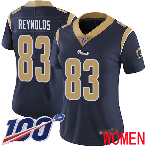 Los Angeles Rams Limited Navy Blue Women Josh Reynolds Home Jersey NFL Football 83 100th Season Vapor Untouchable
