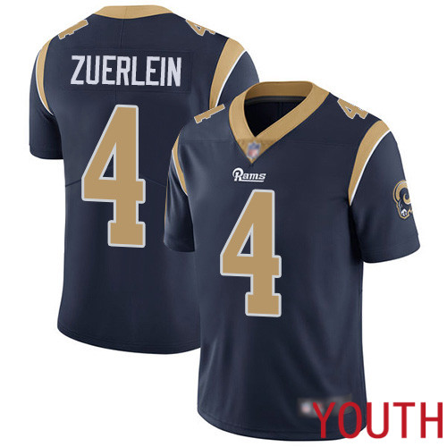 Los Angeles Rams Limited Navy Blue Youth Greg Zuerlein Home Jersey NFL Football 4 Vapor Untouchable