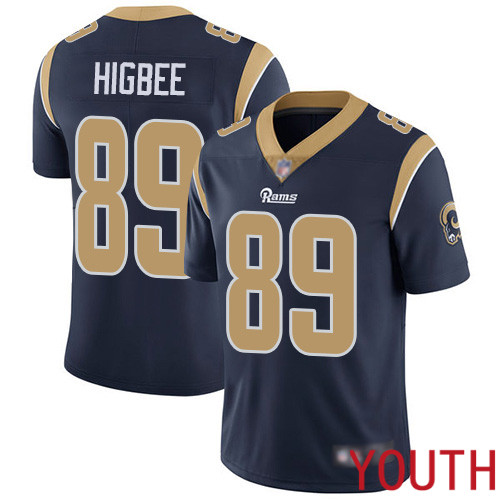 Los Angeles Rams Limited Navy Blue Youth Tyler Higbee Home Jersey NFL Football 89 Vapor Untouchable