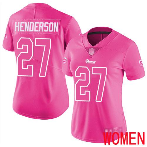 Los Angeles Rams Limited Pink Women Darrell Henderson Jersey NFL Football 27 Rush Fashion