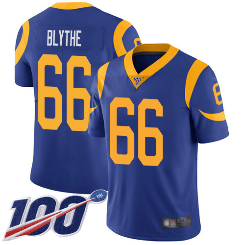 Los Angeles Rams Limited Royal Blue Men Austin Blythe Alternate Jersey NFL Football 66 100th Season Vapor Untouchable