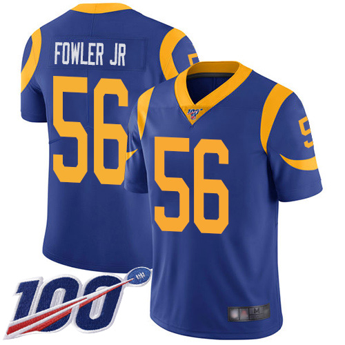 Los Angeles Rams Limited Royal Blue Men Dante Fowler Jr Alternate Jersey NFL Football 56 100th Season Vapor Untouchable