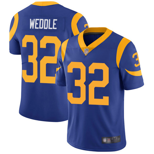 Los Angeles Rams Limited Royal Blue Men Eric Weddle Alternate Jersey NFL Football 32 Vapor Untouchable