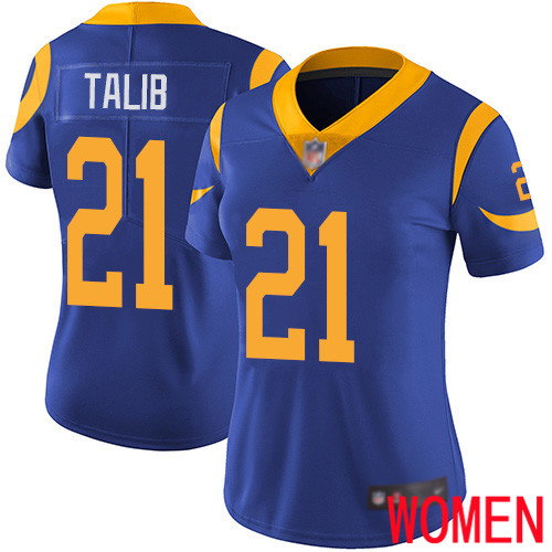 Los Angeles Rams Limited Royal Blue Women Aqib Talib Alternate Jersey NFL Football 21 Vapor Untouchable