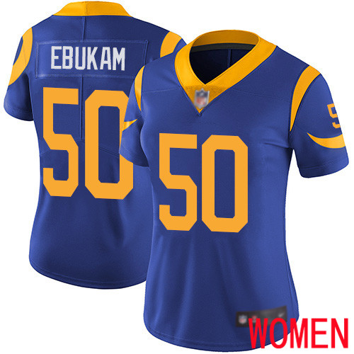 Los Angeles Rams Limited Royal Blue Women Samson Ebukam Alternate Jersey NFL Football 50 Vapor Untouchable