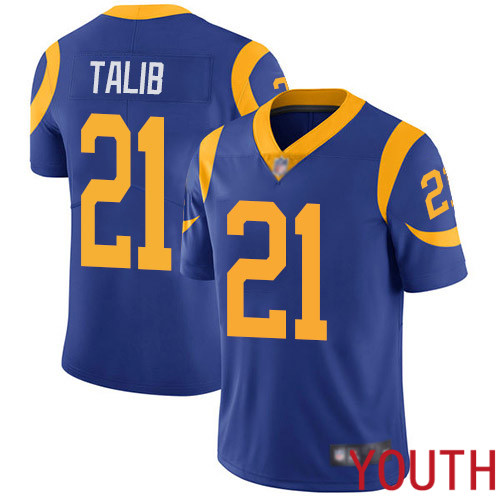 Los Angeles Rams Limited Royal Blue Youth Aqib Talib Alternate Jersey NFL Football 21 Vapor Untouchable