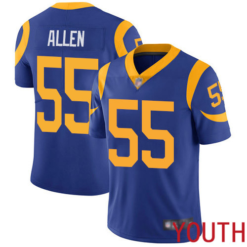 Los Angeles Rams Limited Royal Blue Youth Brian Allen Alternate Jersey NFL Football 55 Vapor Untouchable