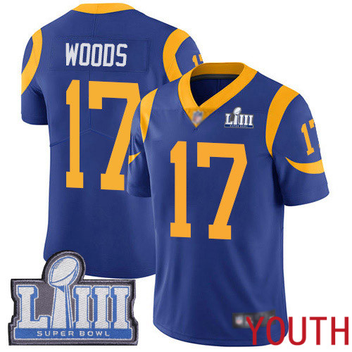Los Angeles Rams Limited Royal Blue Youth Robert Woods Alternate Jersey NFL Football 17 Super Bowl LIII Bound Vapor Untouchable