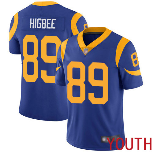 Los Angeles Rams Limited Royal Blue Youth Tyler Higbee Alternate Jersey NFL Football 89 Vapor Untouchable