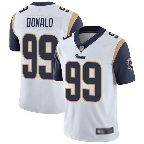 Los Angeles Rams Limited White Men Aaron Donald Road Jersey NFL Football 99 Vapor Untouchable