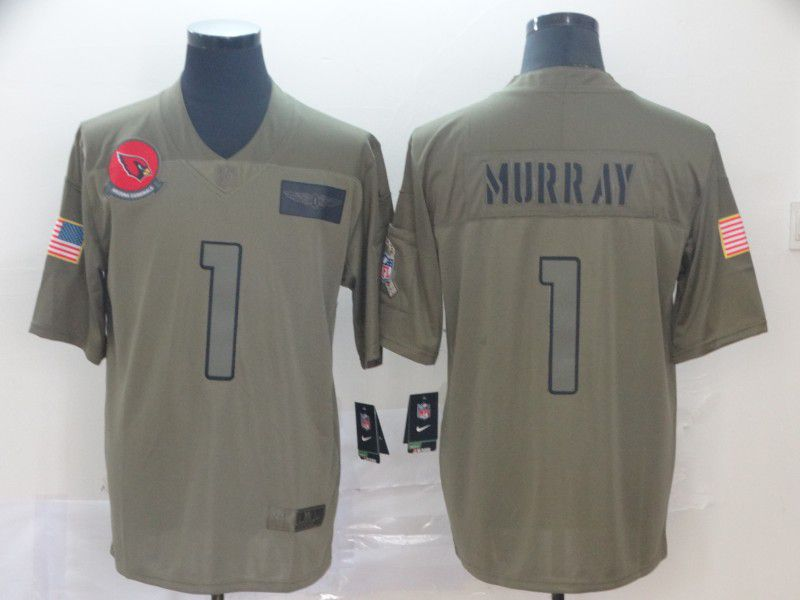 Men Arizona Cardinals 1 Murray Nike Camo 2019 Salute to Service Limited NFL Jerseys