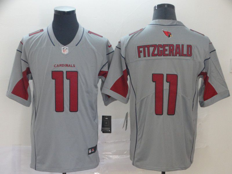 Men Arizona Cardinals 11 Fitzgerald Grey Nike Vapor Untouchable Limited Player NFL Jerseys
